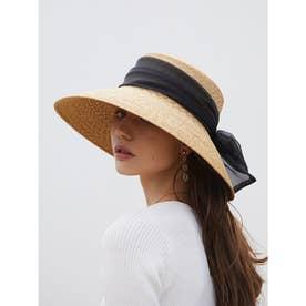 Organdy Ribbon Capellin hat (BEIGE)