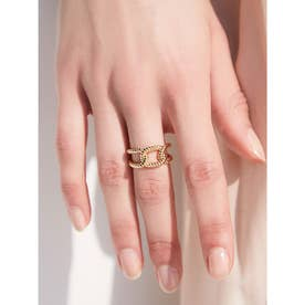 SV925 narrow double twist ring (GOLD)