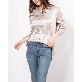 wrinkle satin shirt (BEIGE)