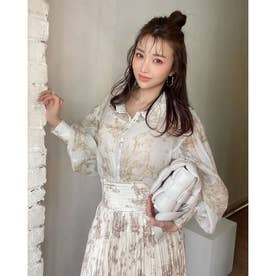 Hailey pattern シアーシャツ (BEIGE)