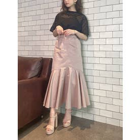 アイレットベルトセットマーメイドスカート (PINK)