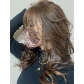 ドットチェーンスカーフ pattern マスク【返品不可商品】 (PINK)