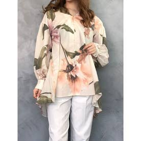 ramona flower バックプリーツシャツ (WHITE)