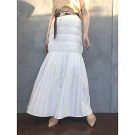 デニムシャーリングマーメードスカート (WHITE)