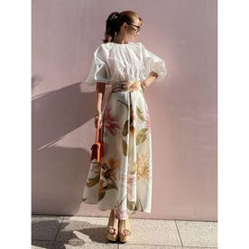 Ramona flower ボリュームスカート (WHITE)