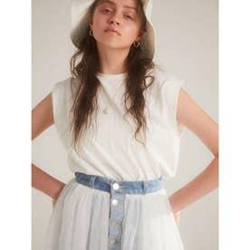 パワーショルダーTシャツ (WHITE)
