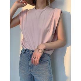 パワーショルダーTシャツ (PINK)