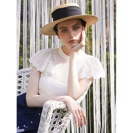 ケープスリーブopenwork knit (WHITE)