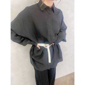 バックオープンビッグシャツ (BLACK)