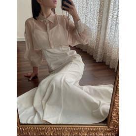シアーシャツセットキャミワンピース (WHITE)