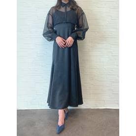シアーシャツセットキャミワンピース (BLACK)