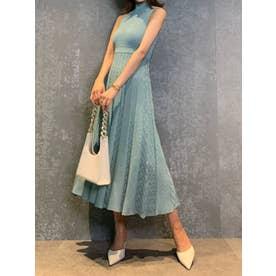 クロシェレースニットドレス (turquoise)
