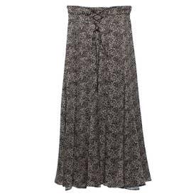 ランダムドットソフトマーメイドスカート (BLACK)