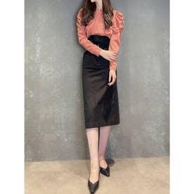 ハイウエストチノタイトスカート (BLACK)