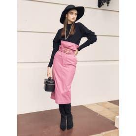 ハイウエストチノタイトスカート (PINK)