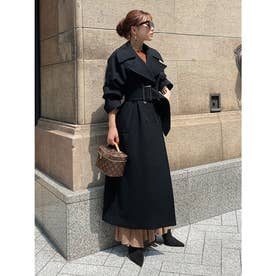 belted chester coat (BLACK)