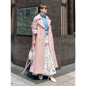 belted chester coat (PINK)