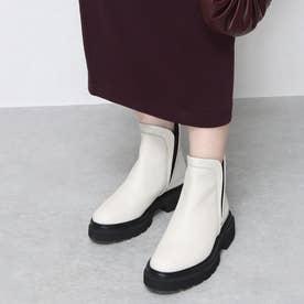 ELVIOZANON for nouer ゴムソールショートブーツ(white) (ホワイト)