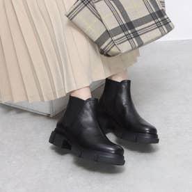 ELVIOZANON サイドゴアレザーブーツ (ブラック)