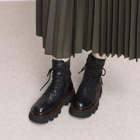ELVIOZANON シューレースデザインブーツ (ブラック)