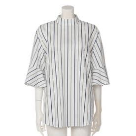 フレアスリーブバックサイドシャツ (WHITE)