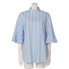 フレアスリーブバックサイドシャツ (SAX)