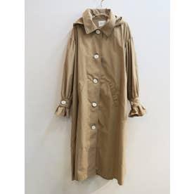 volume sleeve trench coat (beige)