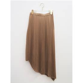 asymmetry chiffon skirt (brown)