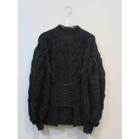 corset blouse (black)