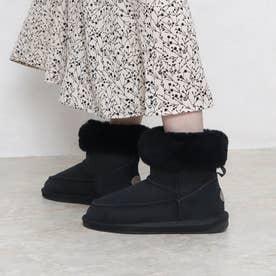 ファーショートブーツ (ブラック)