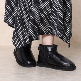 Stinger Micro Glossy ムートンブーツ (Black)