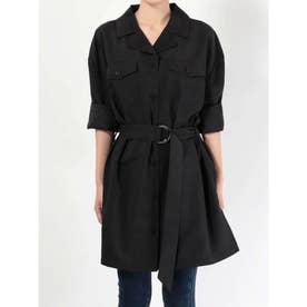 Wポケットオーバーシャツ (ブラック)