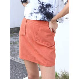 サイドポケットミニスカート (オレンジ)