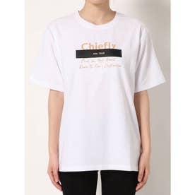 パッチプリントTシャツ(ホワイト)