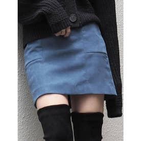 ポケットタイトミニスカート(ブルー)