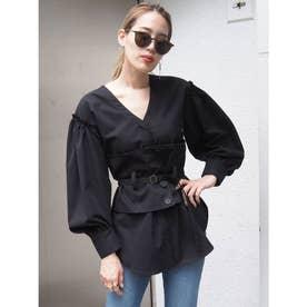 コルセットマークシャツ(ブラック)