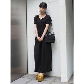 シェイプラインロングドレス(ブラック)