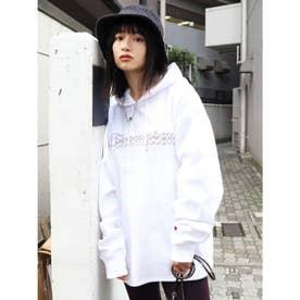 【EMODA×Champion】EMBROIDERYロゴフーディー (ホワイト)