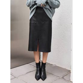 ポケットタイトミディスカート(ブラック)