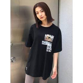 コラージュフォトTシャツ(ブラック)