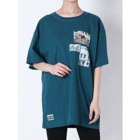 コラージュフォトTシャツ(ブルー)
