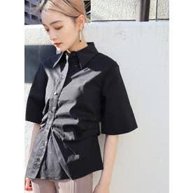 フィットフレアシャツ(ブラック)