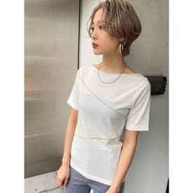 スイッチングミニマルTシャツ(ホワイト)