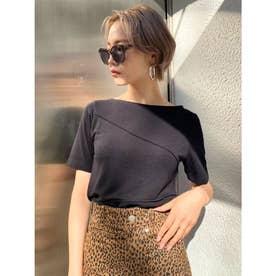 スイッチングミニマルTシャツ(ブラック)