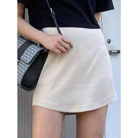 カーブミニスカート(ホワイト)