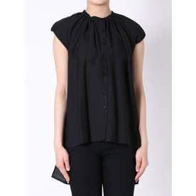 ネックギャザーシャツ(ブラック)