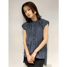 ネックギャザーシャツ(ブルー)