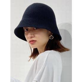 KNIT FLARE HAT(ブラック)