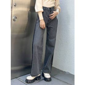 OUTLINE LOOSE J/W JEANS(グレー)