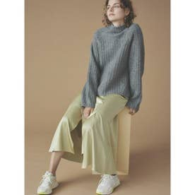【atelier】リブニットサテンスカートset (GRYxGRN)